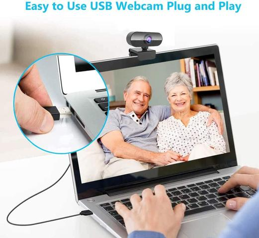 Imagem de Webcam Full Hd 1080p Usb Câmera Stream Live Alta Resolução