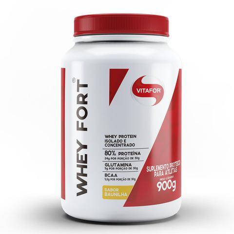 Imagem de Whey fort 900 g - vitafor (baunilha)