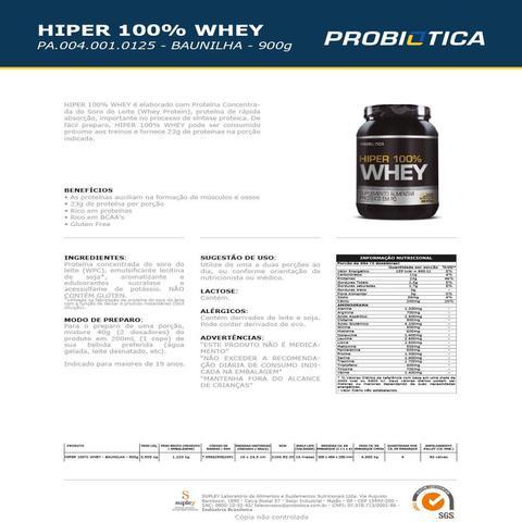 Imagem de Whey Protein Hyper 100% Whey 900G - Probiótica