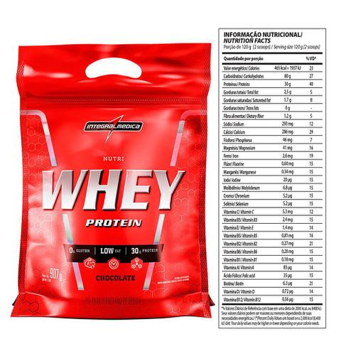 Imagem de Whey Protein Nutri Integralmedica Refil 907g - Chocolate