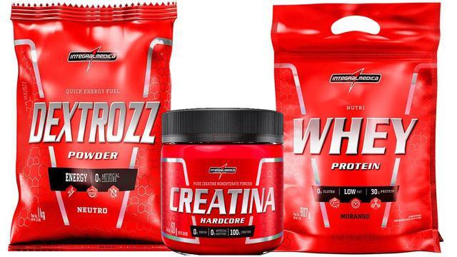 Imagem de Whey Protein Nutri Whey 900g + Creatina 150g + Dextrozz 1 kg integralmedica