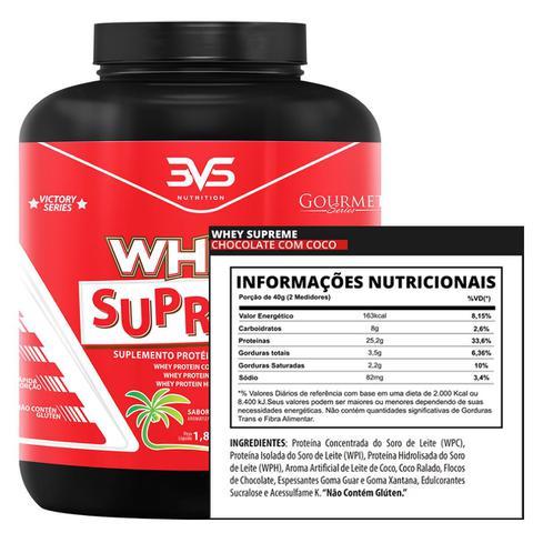 Imagem de Whey supreme 1,8 kg - 3vs (chocolate com coco)