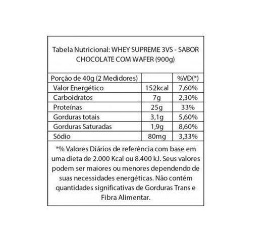 Imagem de Whey Supreme Gourmet Series 3VS Nutrition - 900g