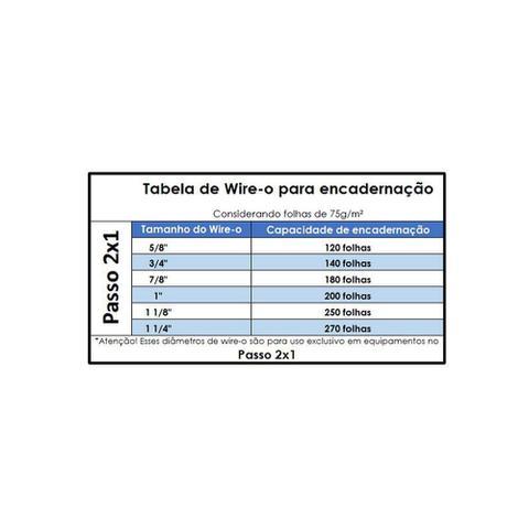 ed3542577 Wire-o para Encadernação 2x1 A4 Preto 3 4 para 140 fls 50un - Marpax ...
