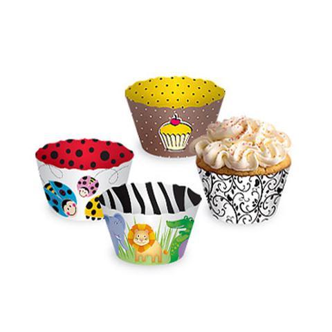 Imagem de Wrapper para Cupcake Animais Floresta 12 unidades Ultrafest
