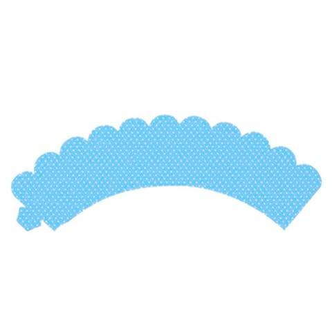Imagem de Wrapper para Cupcake Poá Azul Claro 12 unidades Giracor