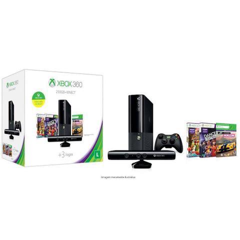 Imagem de Xbox 360 4 Gb + Kinect  + Joga Na Live LT 3.0