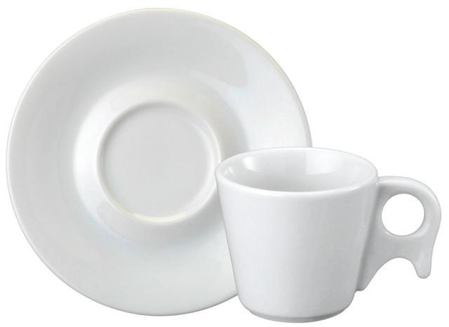Imagem de Xícara Chá Porcelana com Pires 200 ml Branca Bird Schmidt - SCH 143