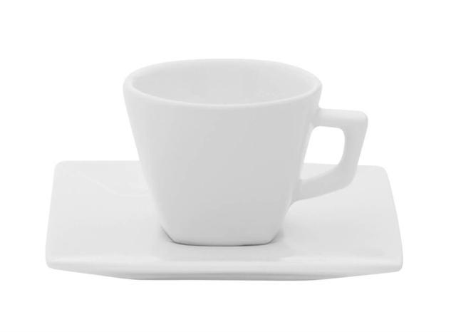 Imagem de Xícara Chá Porcelana com Pires 200 ml Quartier Oxford - OXF 198