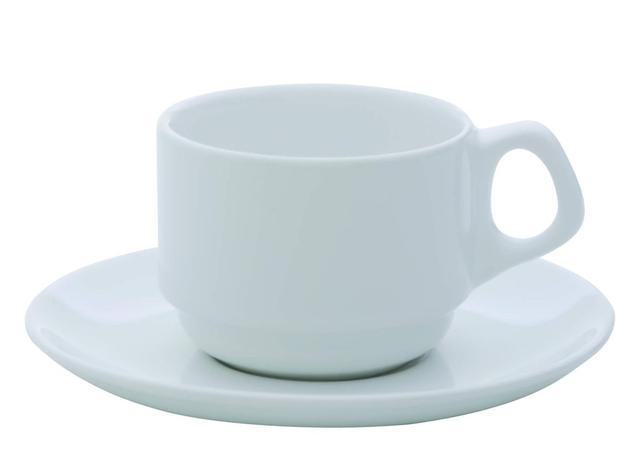 Imagem de Xícara Chá Porcelana com Pires 220 ml Branca Gourmet Pró Oxford - OXF 119