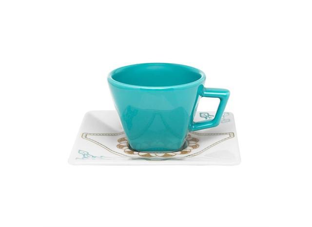Imagem de Xícara Chá Porcelana com Pires Quadrado 200 ml Quartier Domo Oxford - OXF 501