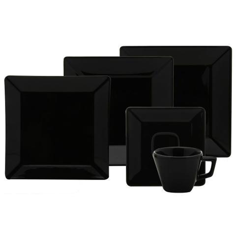 Imagem de Xícara de Chá 200ml com Pires 14cm Quartier Black Oxford
