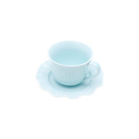 Imagem de Xícara de Chá com Pires Porcelana Princess 6 peças Lyor