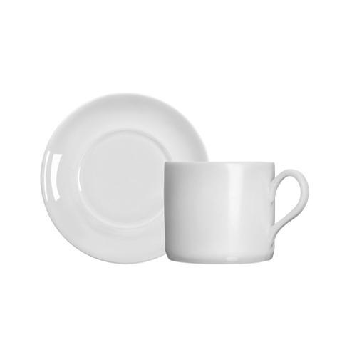 Imagem de xícara para chá em porcelana Germer Brasília  branca