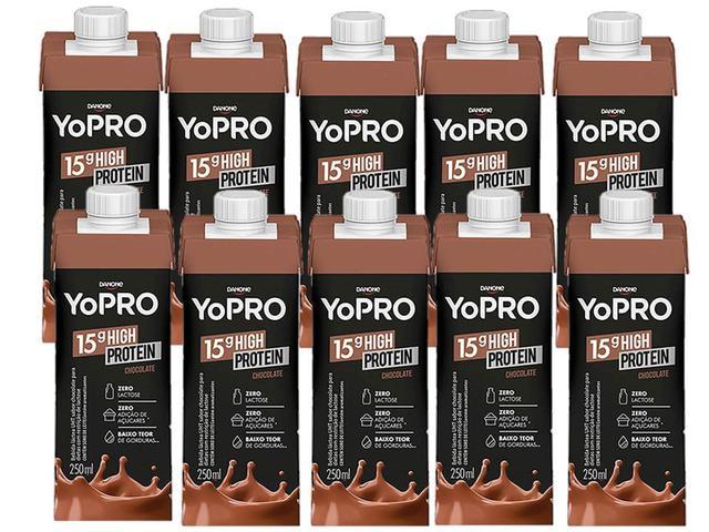 Imagem de Yo Pro Bebida láctea Sabor Chocolate 250 ml cada kit com 10 Unidades