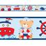 Imagem de Faixa Decorativa Adesivo Parede Border Infantil Marinheiro